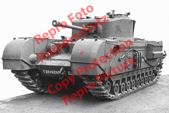 Foto-20er-Format-Panzer-Tank-British-Churchill-VII-ca-20x30cm