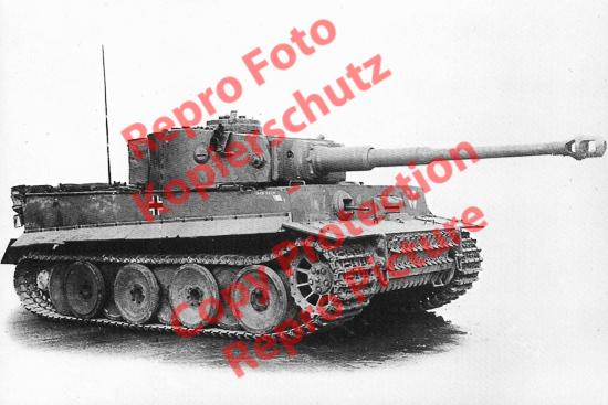 Foto-20er-Format-German-Panzer-Tank-Tiger-IE-ca-20x30cm