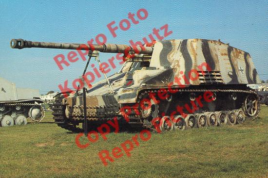 Foto-20er-Format-Panzer-Kampfwagen-III-IV-Nashorn-Rhino-ca-20x30cm