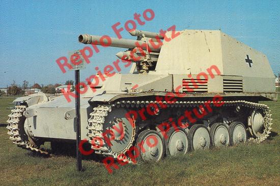 Foto-20er-Format-Panzer-Kampfwagen-II-Wespe-Tank-Wasp-ca-20x30cm