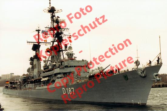 Foto-20er-Format-Kriegsschiff-Battleship-Zerstoerer-Rommel-ca-20x30cm