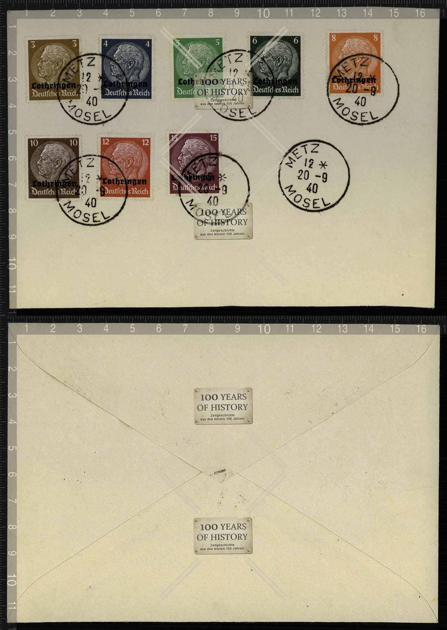 Orig Brief Briefmarken Stempel Lothringen Deutsches Reich Metz